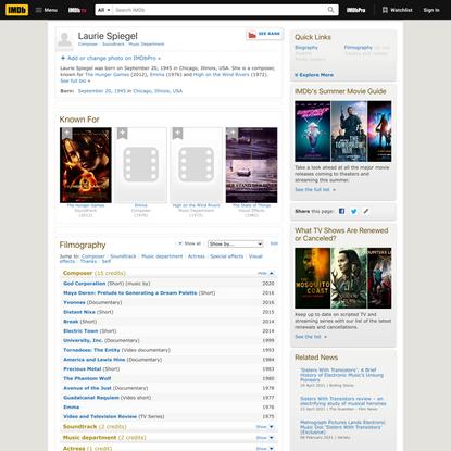 Laurie Spiegel - IMDb