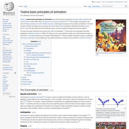 Twelve basic principles of animation - Wikipedia