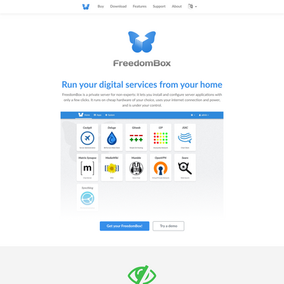FreedomBox - Personal Server at Home
