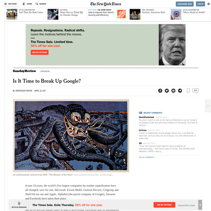 Opinion   Is It Time to Break Up Google?