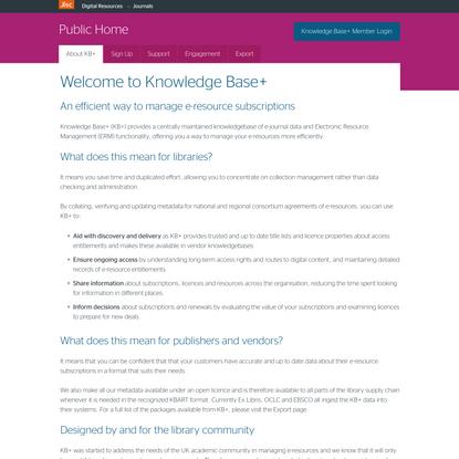 Knowledge Base+