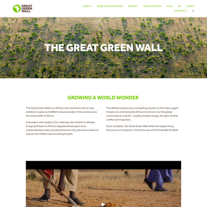 Great Green Wall — The Great Green Wall