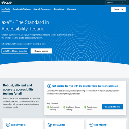 axe: Accessibility Testing Tools and Software