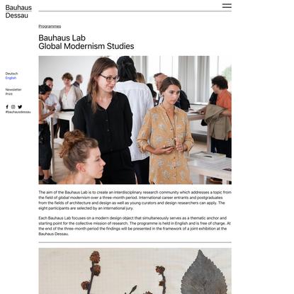 Bauhaus Lab Global Modernism Studies