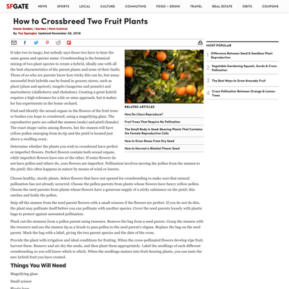 How to Crossbreed Two Fruit Plants