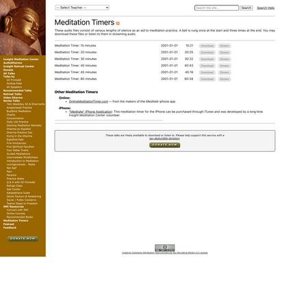 AudioDharma - Meditation Timers