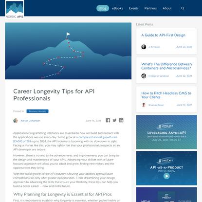 Career Longevity Tips for API Professionals | Nordic APIs |