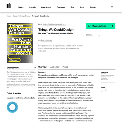 Things We Could Design