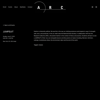 JUMPSUIT — Arts Research Collective - Home
