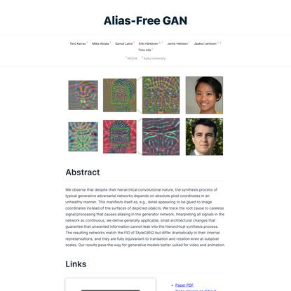 Alias-Free GAN