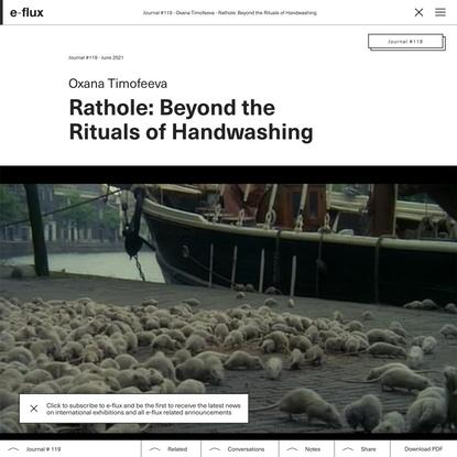 Rathole: Beyond the Rituals of Handwashing