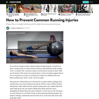 How to Prevent Common Running Injuries   Runner's World