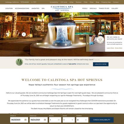 Charming Calistoga Resort and Spa - Calistoga Spa Hot Springs