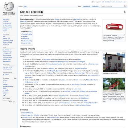 One red paperclip - Wikipedia