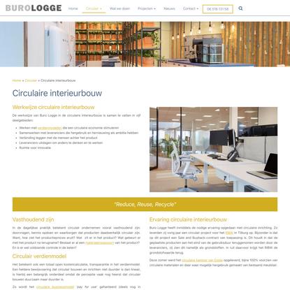 Circulaire interieurbouw - Buro Logge