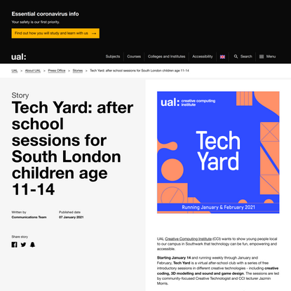 Tech Yard: after school sessions for South London children age 11-14