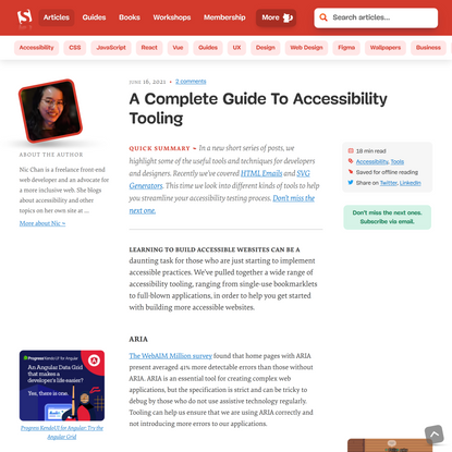 A Complete Guide To Accessibility Tooling — Smashing Magazine