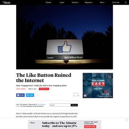 The Like Button Ruined the Internet