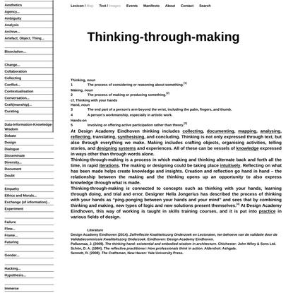 Lexicon of Design Research