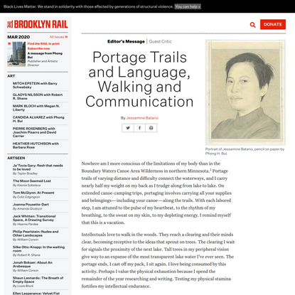 Portage Trails and Language, Walking and Communication