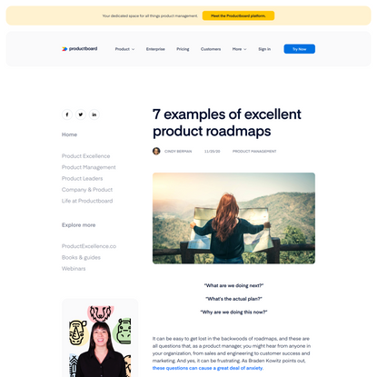 7 examples of excellent product roadmaps | Productboard