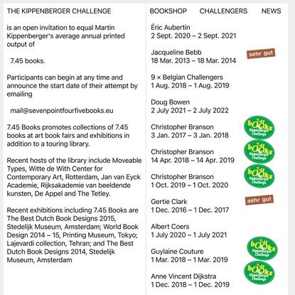 The Kippenberger Challenge