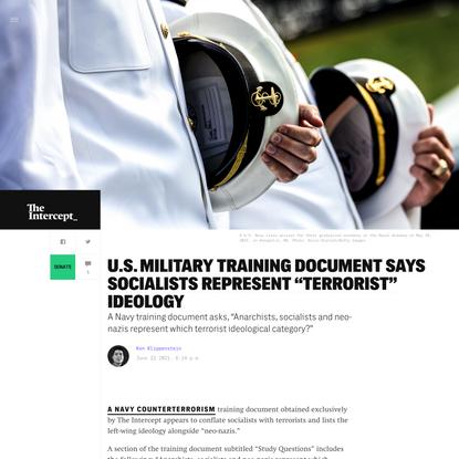 "Military Training Document Says Socialists Represent ""Terrorist"" Ideology"