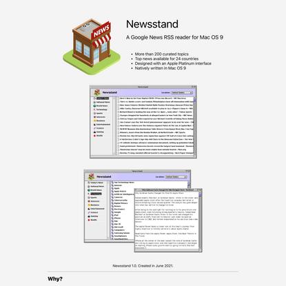Newsstand for Mac OS 9