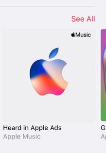 "Apple Music Suggestion - ""Heard in Apple Ads"""