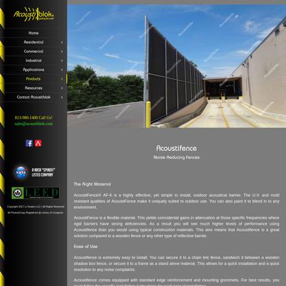 AcoustiFence-Noise Reducing Fences - Acoustiblok Website