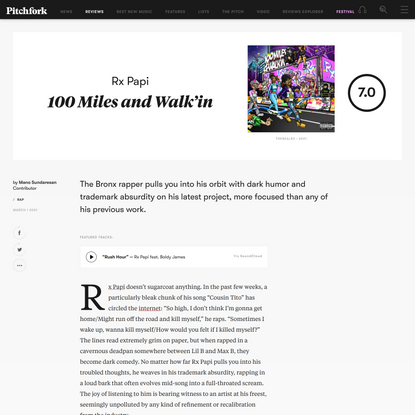 Rx Papi: 100 Miles and Walk'in