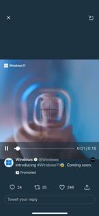 Windows ad on Twitter