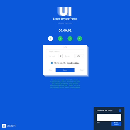 User Inyerface - A worst-practice UI experiment