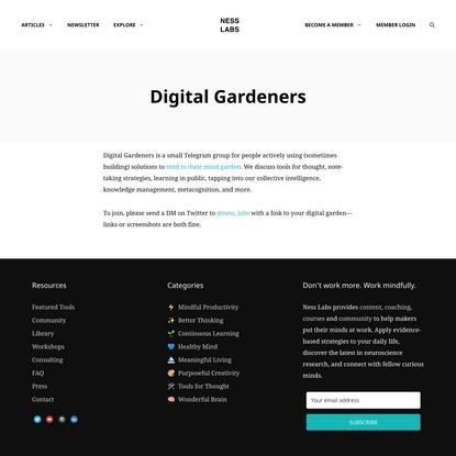 Digital Gardeners