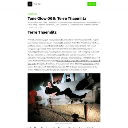 Tone Glow 069: Terre Thaemlitz