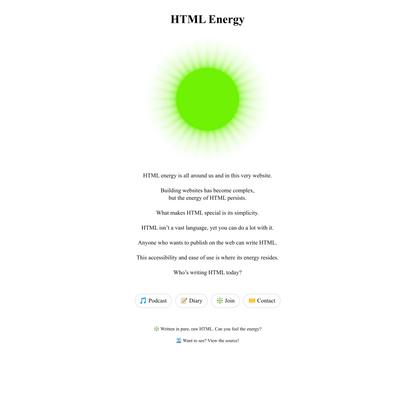 html energy