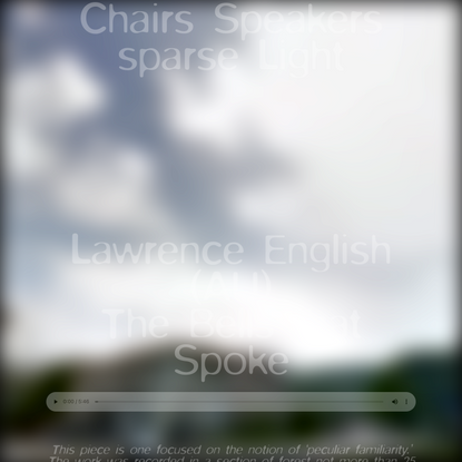 Chairs Speakers sparse Light