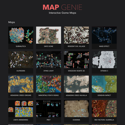 Map Genie | Awesome Interactive Game Maps