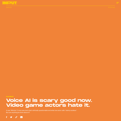 Voice AI is scary good now. Video game actors hate it.