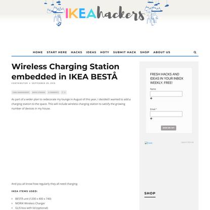 Wireless Charging Station embedded in IKEA BESTÅ - IKEA Hackers