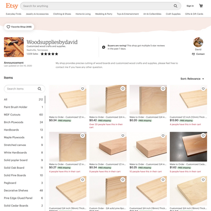 Customized wood crafts and supplies. by Woodsuppliesbydavid