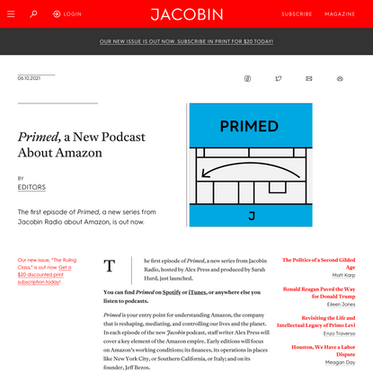 Primed, a New Podcast About Amazon