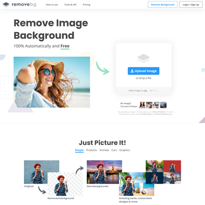 Remove Background from Image – remove.bg