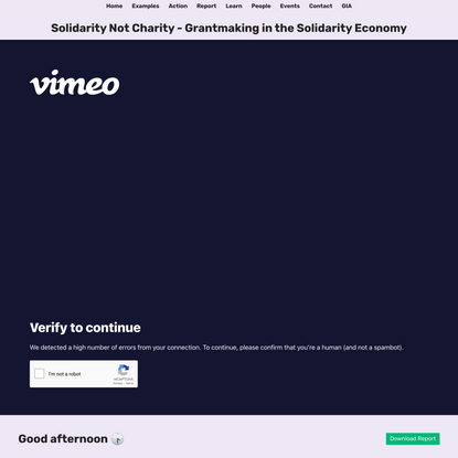 Solidarity Not Charity - Grantmaking in the Solidarity Economy
