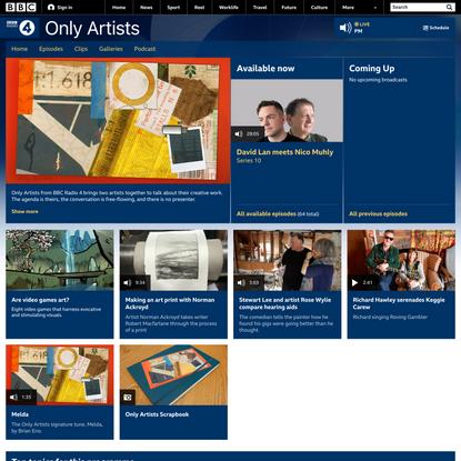 BBC Radio 4 - Only Artists