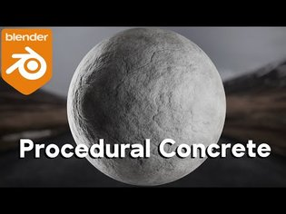 Procedural Concrete Material (Blender Tutorial)