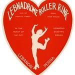 Lebnadrome Roller Rink Label, Lebanon, Pa., 1940s