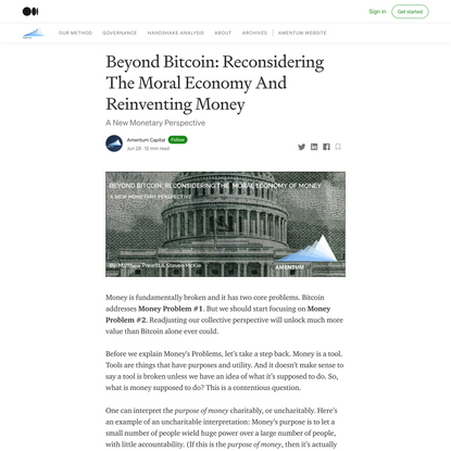 Beyond Bitcoin: Reconsidering The Moral Economy And Reinventing Money