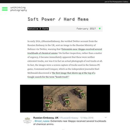Soft Power / Hard Meme