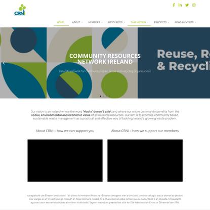 Home - Community Reuse Network Ireland